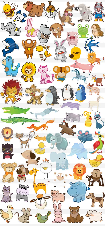 動物素材集 | illustratorの可愛い動物のイラスト素材(ai・eps・word